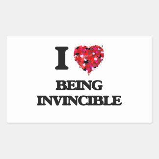 I Love Being Invincible Rectangular Sticker