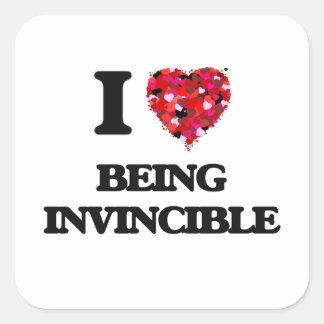 I Love Being Invincible Square Sticker
