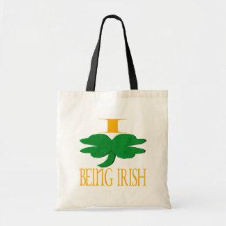 I Love Being Irish Bag