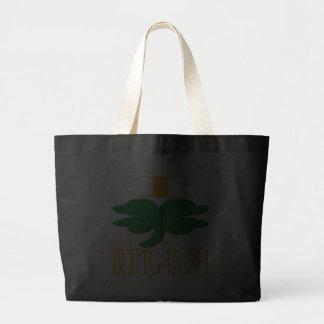 I Love Being Irish Canvas Bag