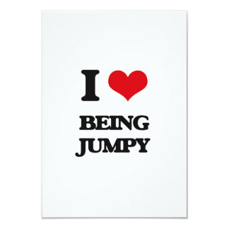 I Love Being Jumpy 3.5x5 Paper Invitation Card