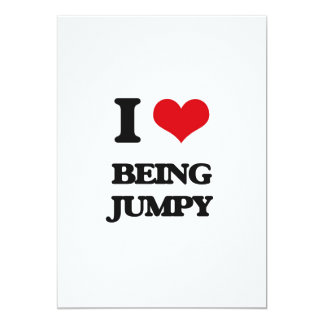 I Love Being Jumpy 5x7 Paper Invitation Card