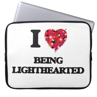 I Love Being Lighthearted Laptop Sleeves