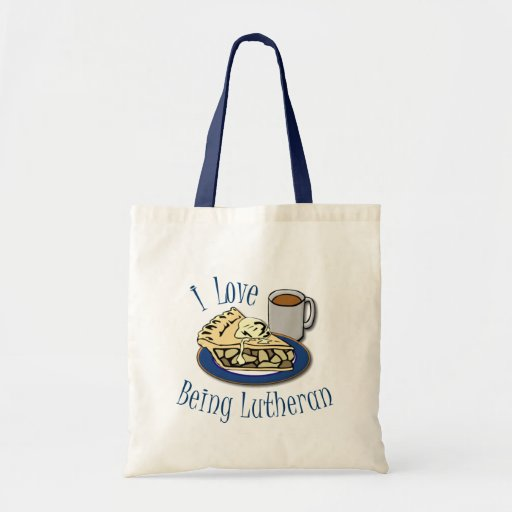 I Love being Lutheran Budget Tote Bag