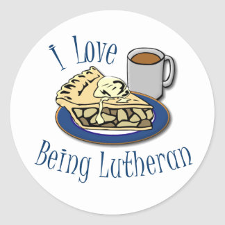 I Love Being Lutheran Funny Church Classic Round Sticker