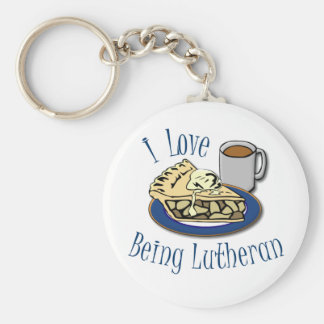 I Love being Lutheran Funny Basic Round Button Keychain