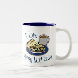 I Love being Lutheran Funny Two-Tone Coffee Mug