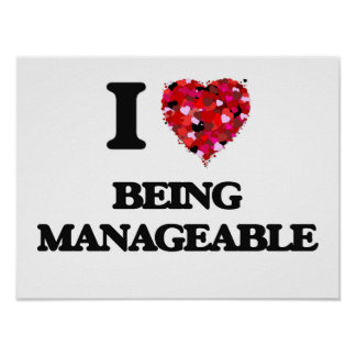 I Love Being Manageable Poster