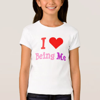 I Love Being Me Heart Bella Babydoll Shirt