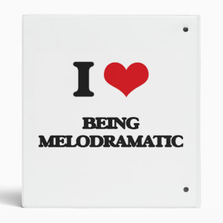 I Love Being Melodramatic Vinyl Binders