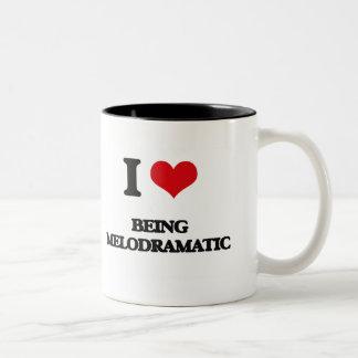I Love Being Melodramatic Two-Tone Coffee Mug