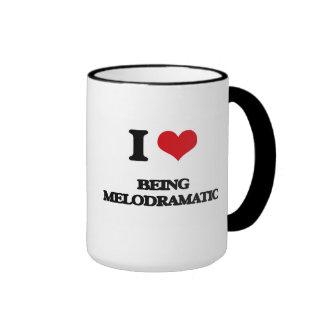 I Love Being Melodramatic Ringer Coffee Mug