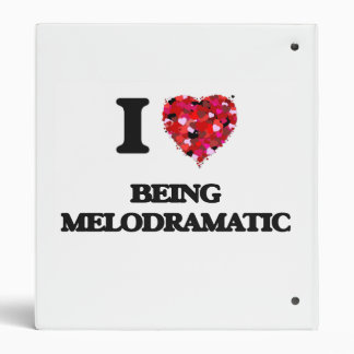 I Love Being Melodramatic Vinyl Binders