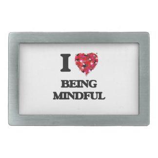 I Love Being Mindful Rectangular Belt Buckle