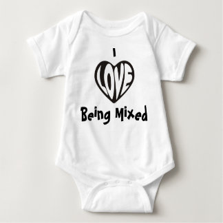I love Being Mixed Baby Vest Infant Creeper