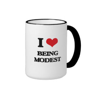 I Love Being Modest Mugs