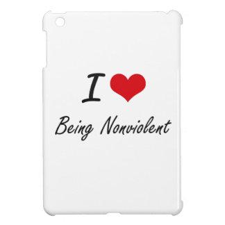 I Love Being Nonviolent Artistic Design iPad Mini Case