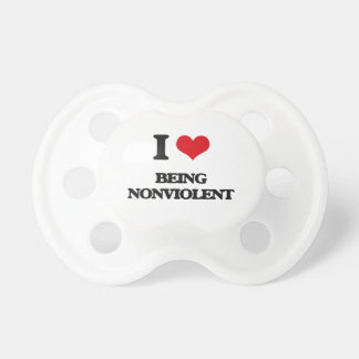 I Love Being Nonviolent BooginHead Pacifier