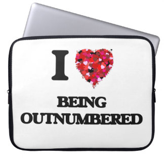 I Love Being Outnumbered Laptop Computer Sleeves