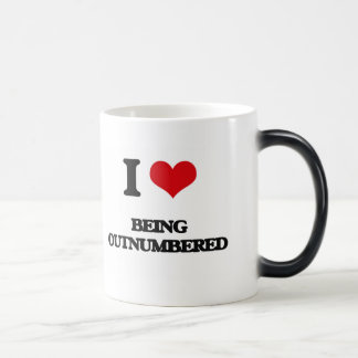 I Love Being Outnumbered Coffee Mugs