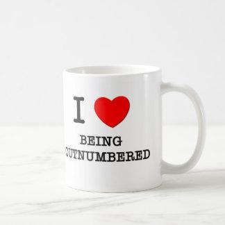 I Love Being Outnumbered Classic White Coffee Mug