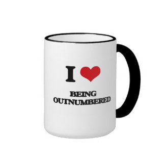 I Love Being Outnumbered Ringer Coffee Mug
