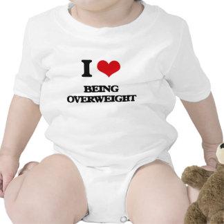 I Love Being Overweight Baby Bodysuit
