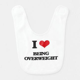 I Love Being Overweight Bib
