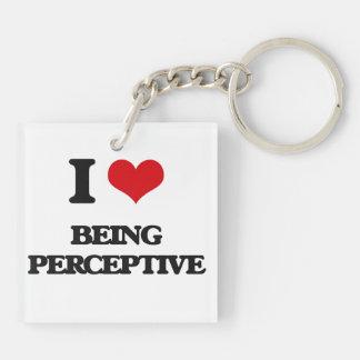 I Love Being Perceptive Acrylic Keychain