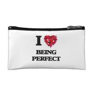 I Love Being Perfect Cosmetic Bags
