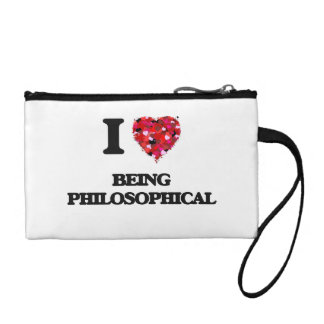 I Love Being Philosophical Coin Wallet