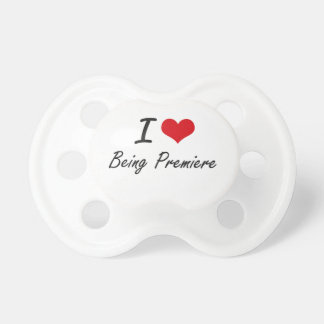 I Love Being Premiere Artistic Design BooginHead Pacifier