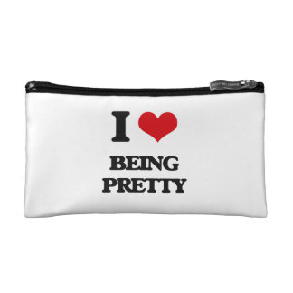 I Love Being Pretty Cosmetics Bags