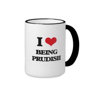 I Love Being Prudish Coffee Mug