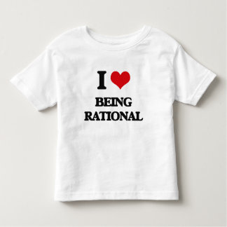 I Love Being Rational Tees