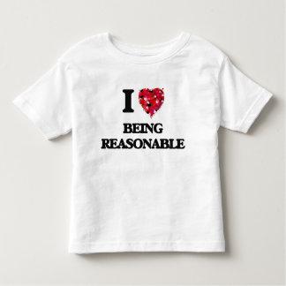 I Love Being Reasonable Tshirts