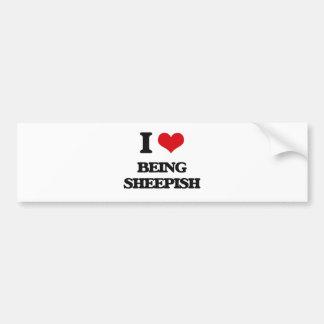 I Love Being Sheepish Car Bumper Sticker