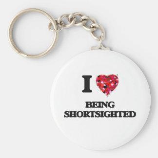 I Love Being Shortsighted Basic Round Button Keychain