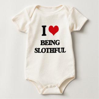 I love Being Slothful Bodysuits