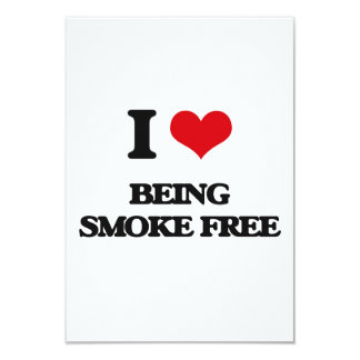 I love Being Smoke-Free 3.5x5 Paper Invitation Card