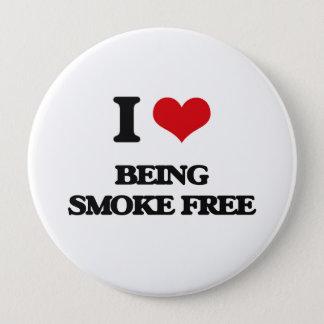 I love Being Smoke-Free Pinback Button