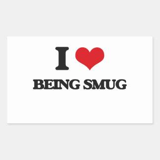 I love Being Smug Rectangular Stickers