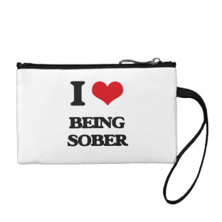 I love Being Sober Coin Purse