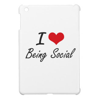 I love Being Social Artistic Design iPad Mini Cases