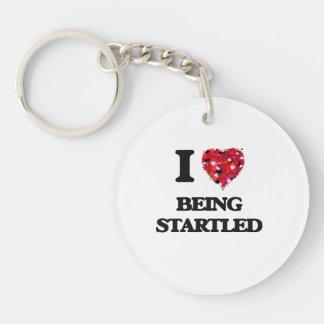 I love Being Startled Single-Sided Round Acrylic Keychain