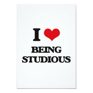 """I love Being Studious 3.5"""" X 5"""" Invitation Card"""