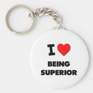 I love Being Superior Basic Round Button Keychain