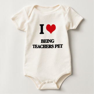I love Being Teachers Pet Rompers