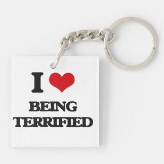 I love Being Terrified Acrylic Key Chain