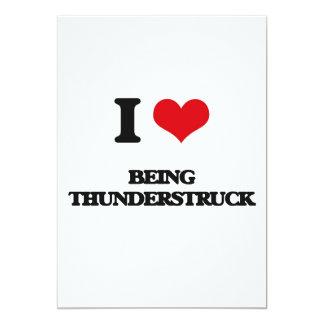 "I love Being Thunderstruck 5"" X 7"" Invitation Card"